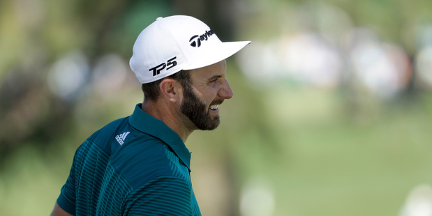 Dustin Johnson pulled out of the Masters without playing a shot. Photo / AP