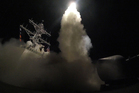 In this image provided by the US Navy, the guided-missile destroyer USS Porter launches a tomahawk land attack missile in the Mediterranean Sea. Photo / AP