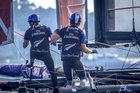 Peter Burling and Blair Tuke in action during the Louis Vuitton America's Cup World Series.