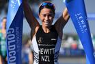 New Zealand's Andrea Hewitt celebrates her victory on the Gold Coast. Photo / photosport.nz