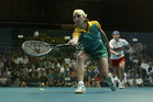 Sarah Fitz-Gerald of Australia v Stephanie Brind of England in the quarterfinals of the women's singles at the 2002 Manchester Commonwealth Games. Photo/Getty Images