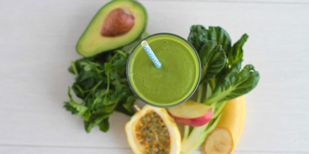 Start your morning off right with a green vege-packed juice.