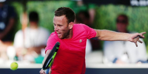 Michael Venus during the 2017 ASB Classic. Photo / Getty Images