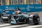 Mitch Evans of Panasonic Jaguar Formula E Team drives during the Buenos ePrix. Photo / Getty Images
