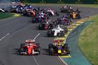 Max Verstappen battles for position with Kimi Raikkonen during the Australian GP. Photo / Getty Images
