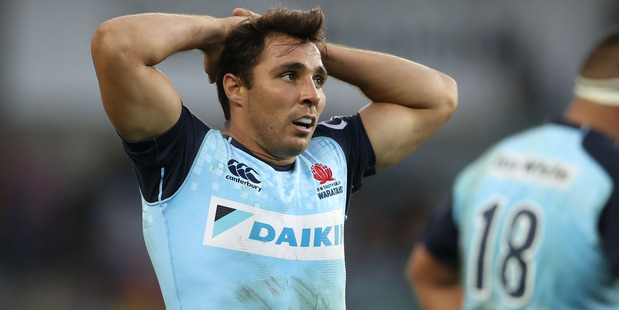 Nick Phipps of the Waratahs looks dejected. Photo /Getty