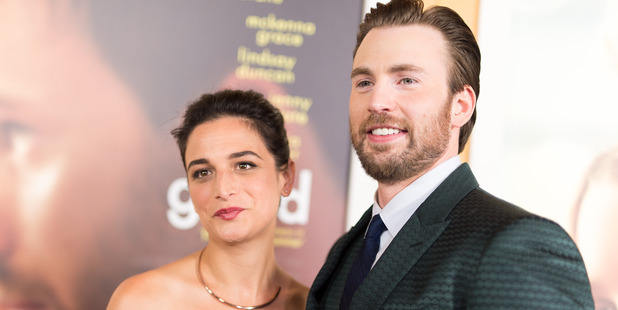Actors Jenny Slate and Chris Evans arrive at the premiere of Fox Searchlight Pictures' 'Gifted' April 4, 2017. Photo / Getty