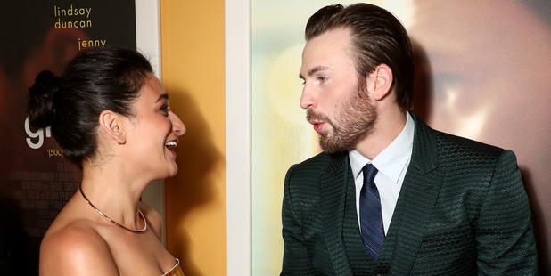 Actors Jenny Slate and Chris Evans. Photo / Getty