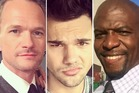 Neil Patrick Harris, Taylor Lautner and Terry Crews. Photos / Instagram