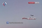 The day after US missile strikes on Sharyat Airfield a Russian SU-22 fighter jet is seen taking off from the airfield