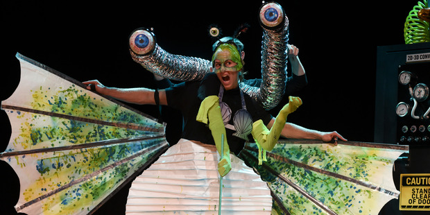 Elle Wootton as one of the weird and wonderful creatures found in The 13-Storey Treehouse.