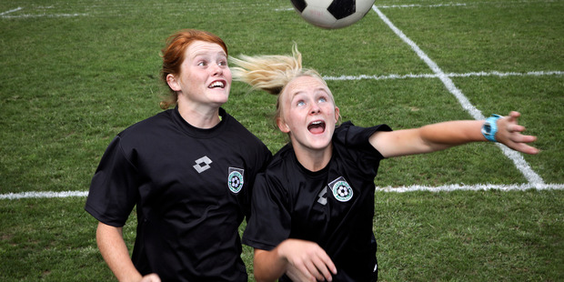 DEDICATED: Lily Muspratt, left, and Lisa Evans have made the under-15 national training camp. PHOTO: ANDREW WARNER