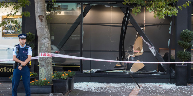 The International Art Centre in Parnell was robbed in a ram-raid and two Lindauer paintings were stolen. Photo / Jason Oxenham