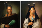 Mystery surrounds the identity of those featured in the Ngatai-Raure portraits by Gottfried Lindauer stolen in Auckland this week. Photo/File