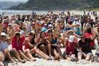 People power at Matarangi Beach in the Coromandel in 2011 was part of a successful protest against proposed development at iconic New Chums Beach.  Photo / Paul Estcourt