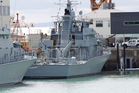 Inshore patrol vessel HMNZS Hawea, front, and HMNZS Pukaki at Devonport Navy Base. Photo Richard Robinson.