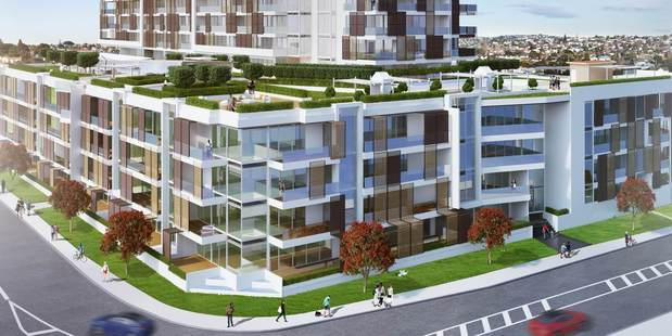 These plans show the Milford apartments to be built on the North Shore.