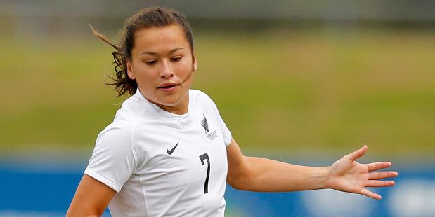New Zealand's Ali Riley. Photo / NZPA.
