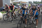 Cyclists display show a mixture of confidence and concentration before heading through the portal and get the North Island leg of the 2017 Tour of New Zealand underway from Kaitaia on Saturday.