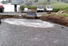 A pond Ross Waldron dug for the disposal of sewage on Child Rd, Tangiteroria, without resource consents. PHOTO/SUPPLIED