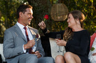 Lily snags a rose from Bachelor Zac Franich.