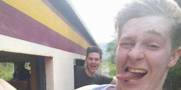 A British tourist fell from a moving train in Thailand, landing him in intensive care in a Thai hospital. Photo / Facebook