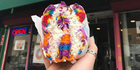 Rainbow bagel from Brooklyn's The Bagel Store. Photo / @thebagelstore