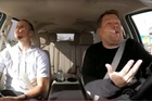 Steph Curry and James Corden belt out the