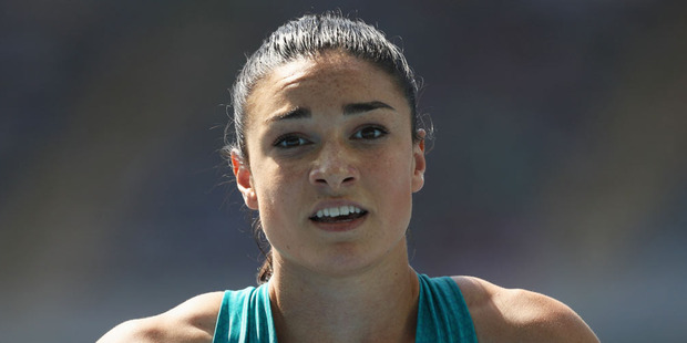 Michelle Jenneke of Australia reacts after competing in the Women's 100m Hurdles at Rio. Photo / Getty Images.