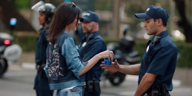 Loading Kendall Jenner in Pepsi's ad. Photo / Youtube