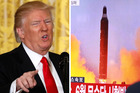 Donald Trump says the US would go it alone if Beijing refuses to cooperate, but refused to say whether he implied taking military action against the hermit dictatorship. Photos / AP