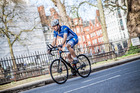 Scot Mark Beaumont on a training ride through London. Photo supplied.