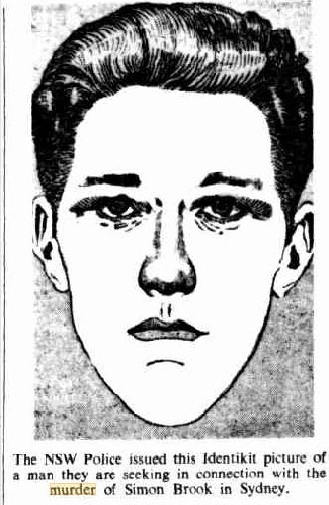 When police released this Identikit picture of the 1968 Simon Brook murder suspect, dozens of people phoned to say how similar it was to the Allen Redstone murder suspect.