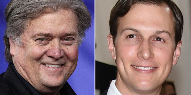 Loading Tensions have mounted between Steve Bannon, left, and Jared Kushner. Photos/ AP