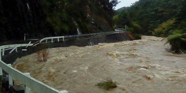 Loading Flooded Tapu River on the Coromandel Peninsula yesterday. Photo / Supplied