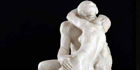 'The Kiss' by Rodin from Auckland Art Gallery's The Body Laid Bare exhibition. Photo / Supplied