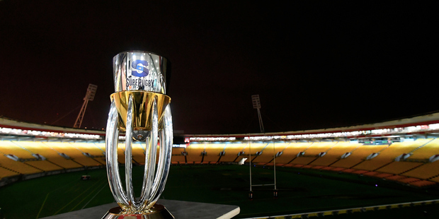 The Super Rugby trophy on display ahead of lasty year's final. Photosport