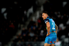 Sonny-Bill Williams looks on during his debut for the Blues. Photosport