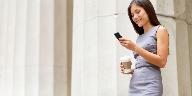 Dr. Jason Cuellar says that people often look down when using their smartphones. Photo / 123RF