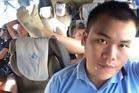 Narong Thaopanya is not enjoying this coach ride. Photo / Facebook, Narong Thaopanya