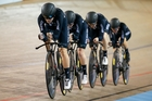 The women's pursuit team start their campaign at the world champs late tonight. Photo / Photosport