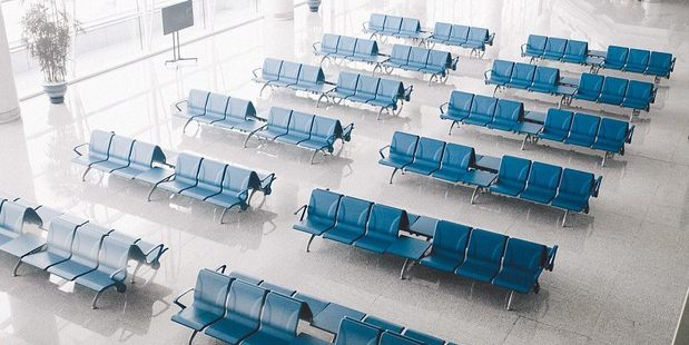 Most of the vast, squeaky-clean halls are for show and sit completely vacant since travel in and out of the country is not for the majority of the population. Photo / Adam Baidawi