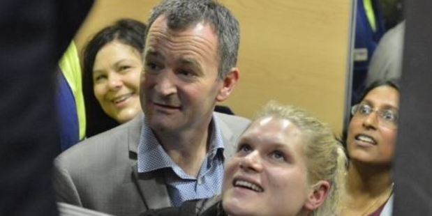 "As she was rescued Libby said: ""I've never been so happy to see someone before."" Photo: Gerard O'Brien / Otago Daily Times"