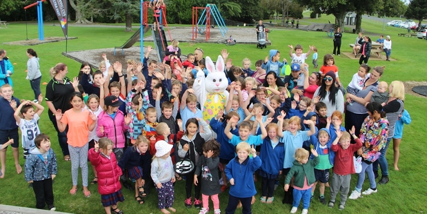There were plenty of youngsters at Victoria Park last Thursday for the Hits Taranaki Easter Egg Hunt with Primo Wireless.