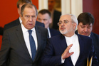 Russian Foreign Minister Sergei Lavrov, left, and Iranian Foreign Minister Mohammad Javad Zarif. Photo / AP