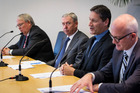 SKY TV/Vodafone merger press conference at the Craigs Investment Partners offices. Photo / File