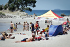 Many Aucklanders are flocking to Mount Maunganui. Bay of Plenty Times Photograph by Andrew Warner.