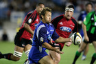 Carlos Spencer in action during the Super 12 rugby match between the Crusaders and the Blues in 2005.