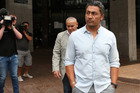 Actor Rene Naufahu leaving Auckland District Court last year. Photo / Doug Sherring