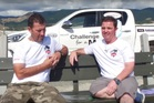 David Puklowski, left, is circumnavigating the South Island in a 3.8m boat to raise money for his mate Russell Blowers.